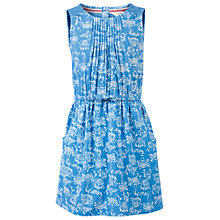 Buy Fat Face Girls' Maisy Ocean Print Dress, Marina Blue Online at johnlewis.com