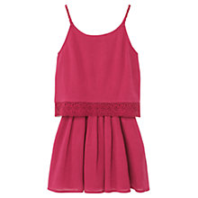Buy Mango Kids Girls' Openwork Dress, Red Online at johnlewis.com