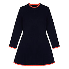 Buy Yumi Girl Ribbed Jumper Dress, Navy Online at johnlewis.com