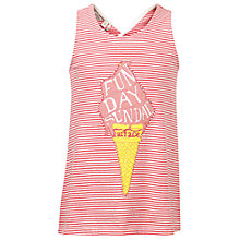 Buy Fat Face Girls' Funday Sundae Vest, Deep Coral Online at johnlewis.com