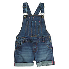 Buy Fat Face Girls' Denim Short Dungarees, Blue Online at johnlewis.com