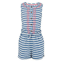 Buy Fat Face Girls' Stripe Woven Playsuit, Ink Online at johnlewis.com
