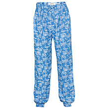 Buy Fat Face Girls' Ocean Print Beach Trousers, Marina Blue Online at johnlewis.com