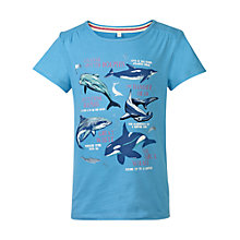Buy Fat Face Girls' Sealife Facts T-Shirt, Marina Blue Online at johnlewis.com
