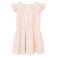 Buy Mango Kids Girls' Textured Cotton Dress, Pink Online at johnlewis.com