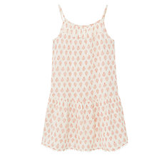 Buy Mango Kids Girls' Mosaic Print Dress, Orange/White Online at johnlewis.com