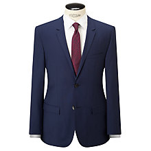 Buy Calvin Klein Wool Plain Weave Tailored Suit Jacket, Indigo Online at johnlewis.com