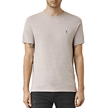Buy AllSaints Tonic Panel Crew Neck T-Shirt, Putty Grey Marl Online at johnlewis.com