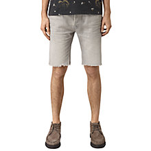 Buy AllSaints Band Switch Slim Fit Denim Shorts, Grey Online at johnlewis.com