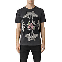 Buy Allsaints Kreuz Slouch Short Sleeve Crew Neck T-Shirt, Vintage Black Online at johnlewis.com
