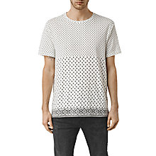 Buy AllSaints Leaf Space Slouch Short Sleeve Shirt, Chalk White Online at johnlewis.com