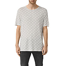 Buy AllSaints Inkblot Crew Neck T-Shirt, Chalk White Online at johnlewis.com