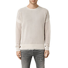 Buy AllSaints Arden Crew Neck Cotton Jumper Online at johnlewis.com