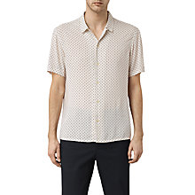 Buy AllSaints Spadille Short Sleeve Shirt, Ecru White Online at johnlewis.com