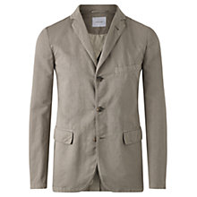 Buy Jigsaw Cotton Linen Tailored Jacket, Pumice Online at johnlewis.com