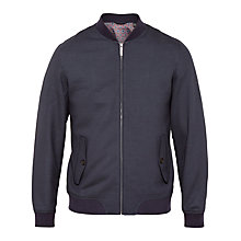 Buy Ted Baker Truman Bomber Jacket, Navy Online at johnlewis.com