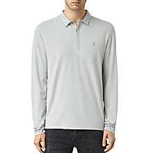 Buy AllSaints Brace Long Sleeve Polo Shirt, Mirage Blue Online at johnlewis.com