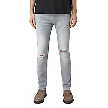 Buy AllSaints Lias Cigarette Jeans, Grey Online at johnlewis.com