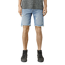 Buy AllSaints Fret Switch Shorts, Mid Indigo Blue Online at johnlewis.com