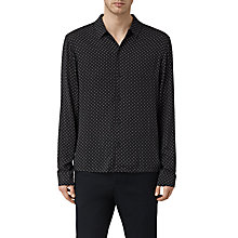 Buy AllSaints Spadille Short Sleeve Shirt, Washed Black Online at johnlewis.com