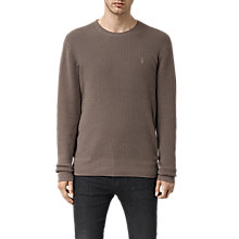 Buy AllSaints Trias Waffle Knit Jumper Online at johnlewis.com