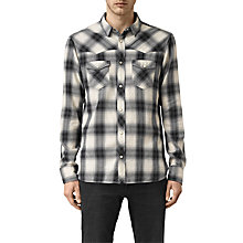 Buy AllSaints Washita Check Slim Fit Shirt, Black Online at johnlewis.com