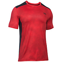 Buy Under Armour Raid Short Sleeve T-Shirt, Red/Black Online at johnlewis.com