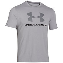 Buy Under Armour Logo Short Sleeve Training Top Online at johnlewis.com