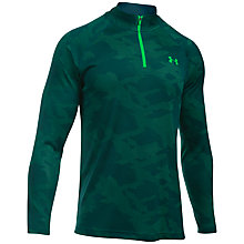 Buy Under Armour Tech Jacquard 1/4 Zip Training Top, Green Online at johnlewis.com