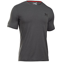 Buy Under Armour Charged Cotton Sportstyle T-Shirt, Grey Online at johnlewis.com