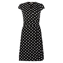 Buy Hobbs Cap Sleeve Sally Dress, Black/Ivory Online at johnlewis.com