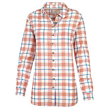 Buy Fat Face Boyfriend Check Shirt, Coral Online at johnlewis.com