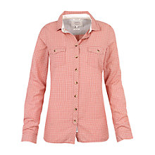 Buy Fat Face Classic Fit Mini Check Shirt, Coral Online at johnlewis.com