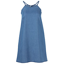 Buy Fat Face Lois Chambray Dress, Blue Online at johnlewis.com