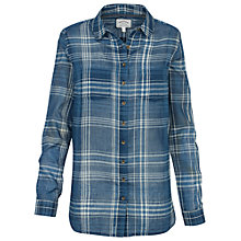 Buy Fat Face Boyfriend Fit Stitch Check Shirt, Indigo Online at johnlewis.com