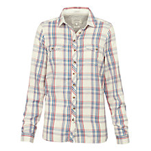 Buy Fat Face Classic Fit Cotton Twill Check Shirt, Ivory Online at johnlewis.com