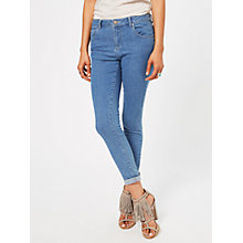Buy Miss Selfridge Sofia Cropped Jeans, Mid Wash Denim Online at johnlewis.com