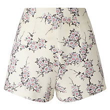 Buy Miss Selfridge Floral Tailored Shorts, Multi Online at johnlewis.com