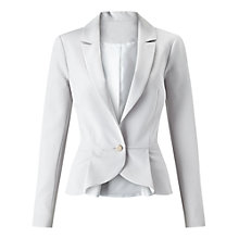 Buy Miss Selfridge Peplum Detail Jacket, Mink Online at johnlewis.com