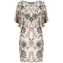 Buy Miss Selfridge Embellished Angle Sleeve Dress, Ivory Online at johnlewis.com