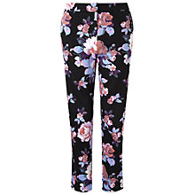 Buy Miss Selfridge Floral Print Trousers, Multi Online at johnlewis.com