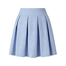 Buy Miss Selfridge Jacquard Pleated Skater Skirt, Blue Online at johnlewis.com