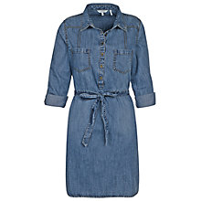 Buy Fat Face Maggie Denim Shirt Dress, Mid-wash Online at johnlewis.com