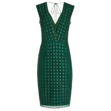 Buy Reiss Eris Plunge V Neck Dress, Emerald Green Online at johnlewis.com
