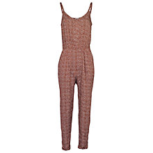 Buy Fat Face Jenny Tribal Geo Print Jumpsuit, Firebrick Online at johnlewis.com