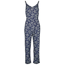 Buy Fat Face Jenny Batik Floral Print Jumpsuit, Indigo Online at johnlewis.com