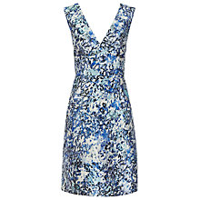 Buy Reiss Allium Print Floral Dress, Ice Blue/Steel Online at johnlewis.com