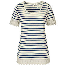 Buy Fat Face Polly Stripe Top, Ivory Online at johnlewis.com