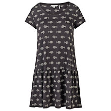 Buy Fat Face Mabel Batik Fish Dress, Phantom Online at johnlewis.com