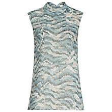 Buy Reiss Valet Printed Top, Soft Green Online at johnlewis.com